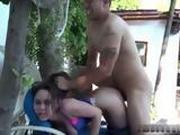 Latina Girl Getting Extreme Fucking In A Backyard