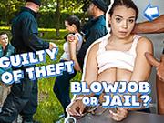 LAW4k. Big-breasted Sofia Lee thief with wonderful ass